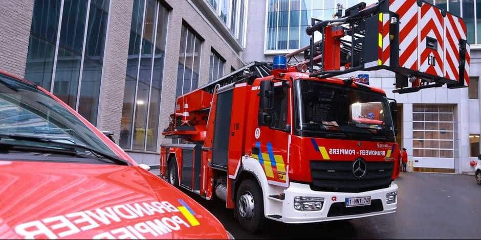 Soumagne : Camion en feu vers la E40, E42