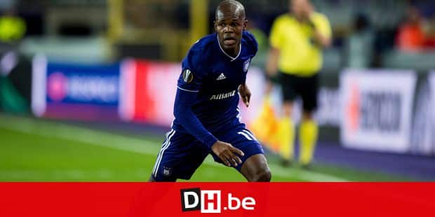 Anderlecht's Knowledge Musona pictured in action during the match between Belgian soccer team RSC Anderlecht and Slovakian club Spartak Trnava, Thursday 29 November 2018 in Anderlecht on the fifth day of the UEFA Europa League group stage, in group D. BELGA PHOTO JASPER JACOBS