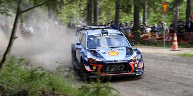 Thierry Neuville 5e du shakedown au Rallye de Finlande - La DH