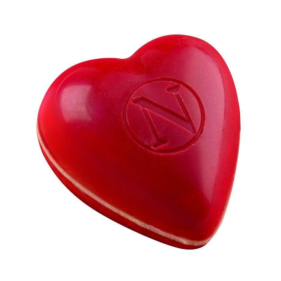 Le plus tendre coeur du monde, Neuhaus, framboise et gingembre.