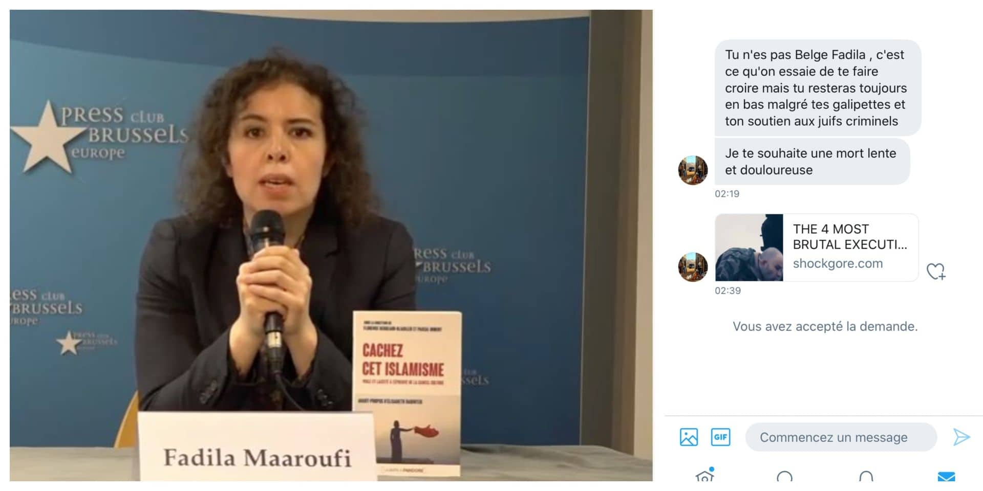 """La directrice de l'Observatoire des fondamentalismes Fadila Maaroufi menacée de mort : """"L'horreur"""""""