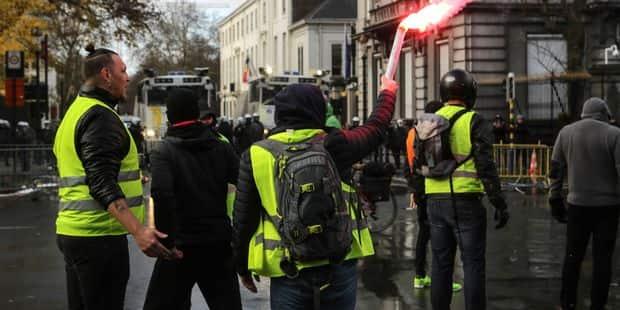 """Manifestation des """"gilets jaunes"""" à Bruxelles : 82 arrestations au total - La DH"""