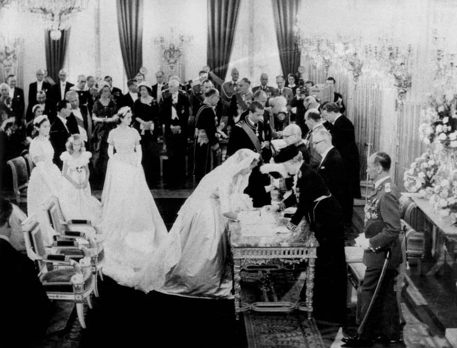 Le 2 juillet 1959. Mariage en grande pompe à Bruxelles.