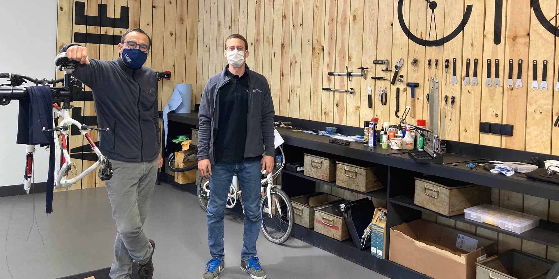 ReCycle, l'atelier de Waterloo qui donne une seconde vie aux vélos