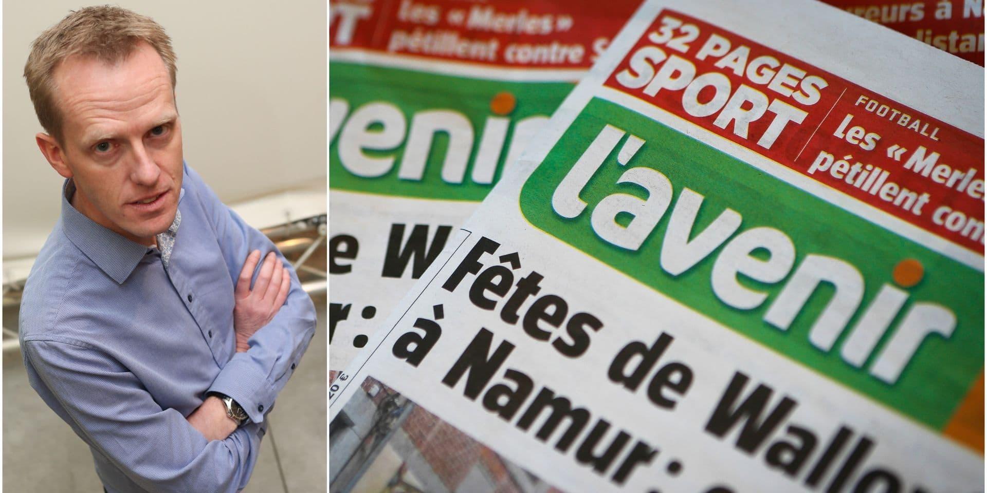 Thierry Remacle est le nouveau rédacteur en chef de L'Avenir