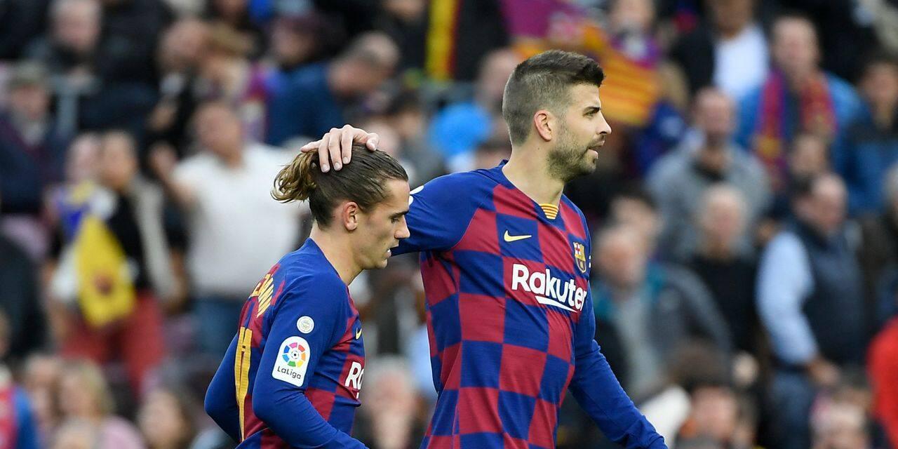 Grosse embrouille entre Piqué et Griezmann lors de Barça-PSG, le Français a pris un avion pour... - dh.be