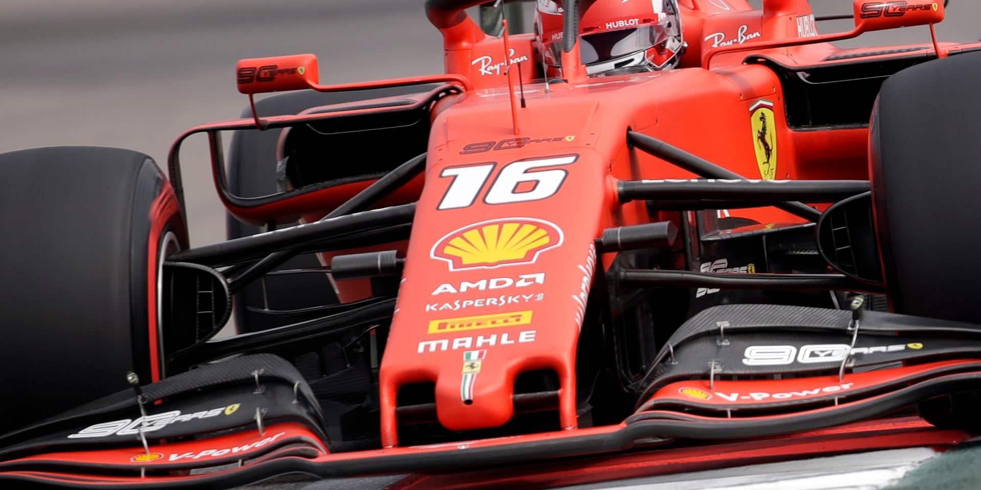 GP de F1 de Russie: Leclerc le plus rapide des essais libres 1