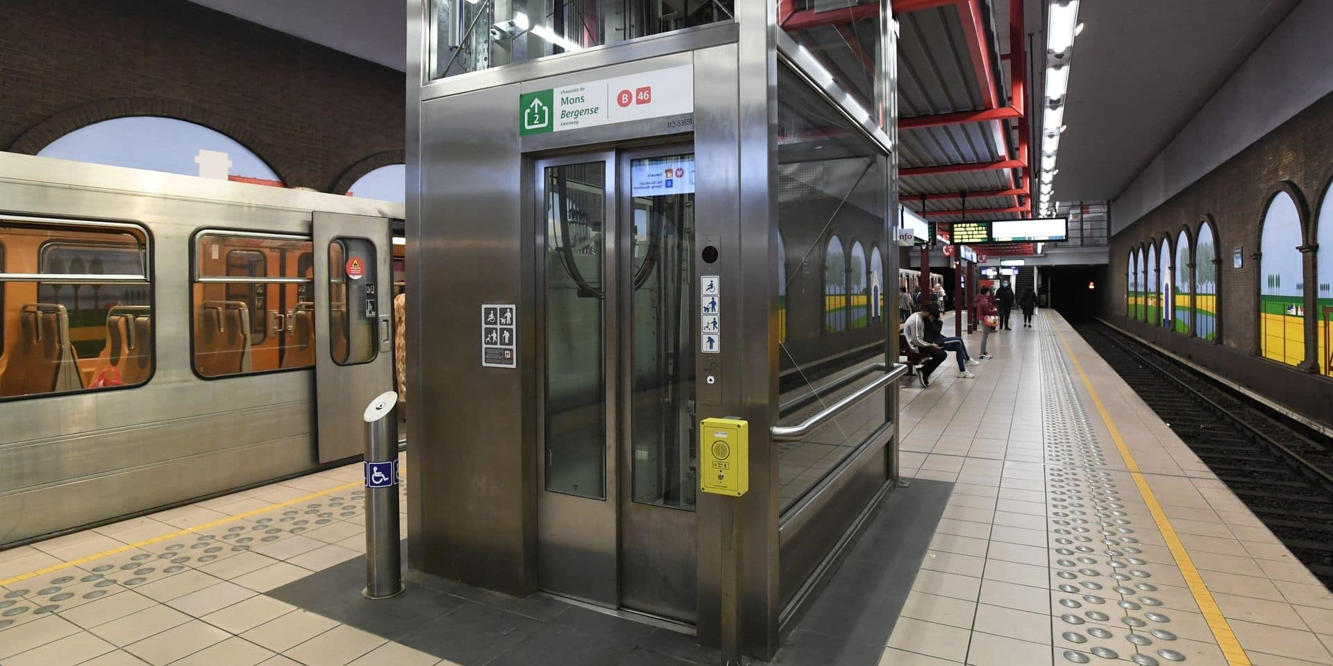 Anderlecht : La station de métro Clémenceau rénovée