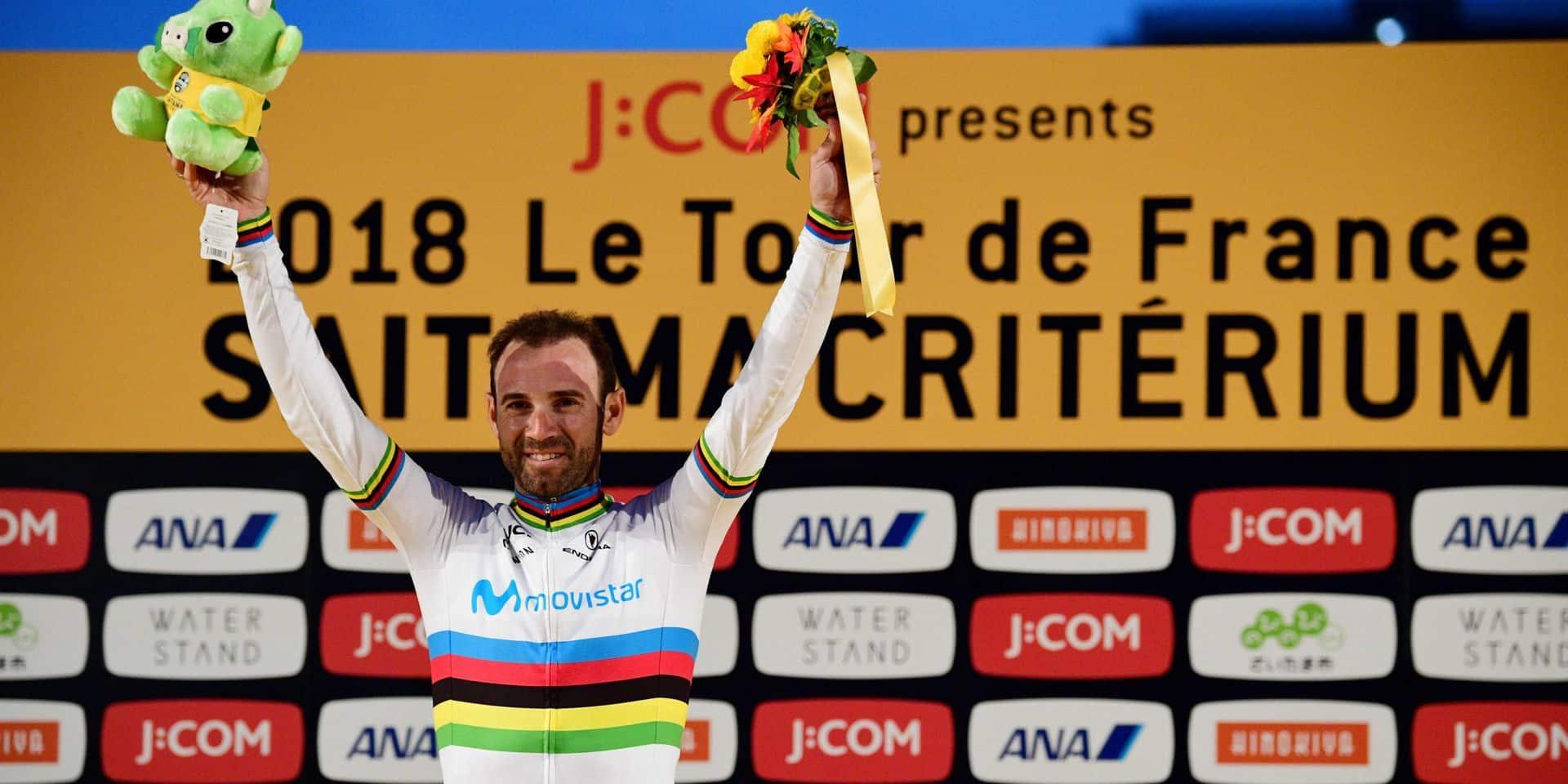 Le champion du monde Alejandro Valverde vainqueur du Critérium de Saitama