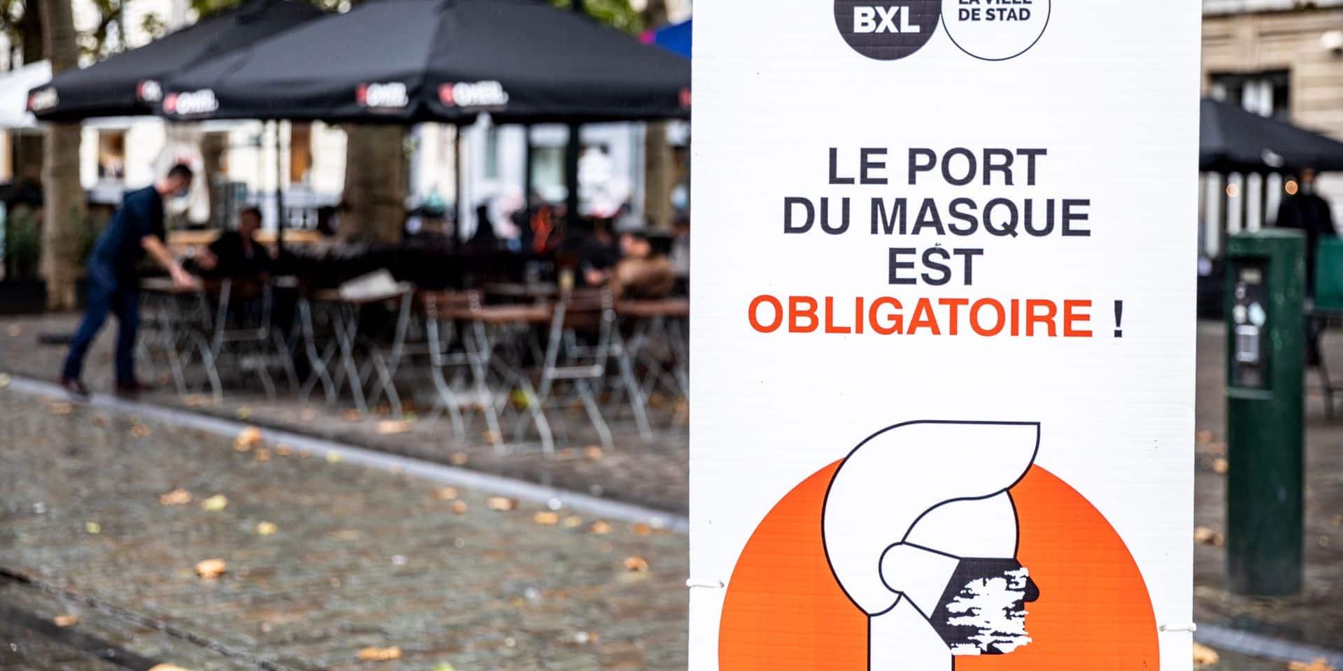 Fin de l'obligation du port du masque à Bruxelles: quid en Wallonie?