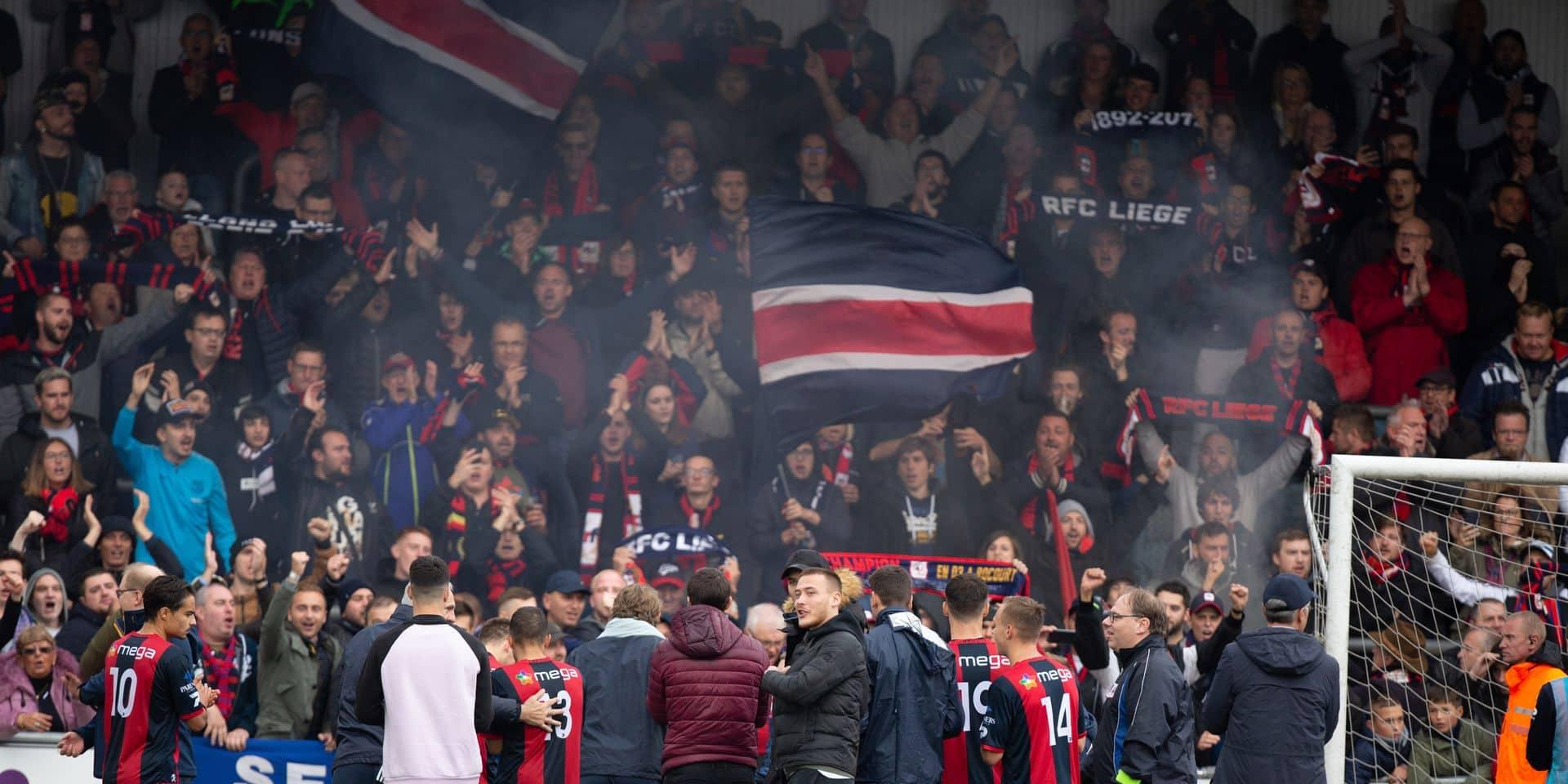 Des supporters du RFC Liège soutiennent le personnel hospitalier face au coronavirus