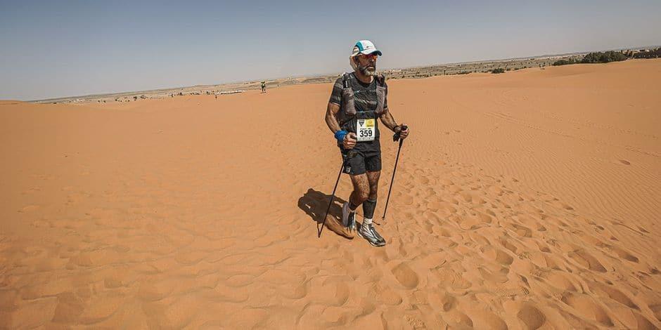 Malgré son abandon au Marathon des Sables, Frédéric Geerts a récolté plus de 20.000 euros pour Enoha et la mucoviscidose