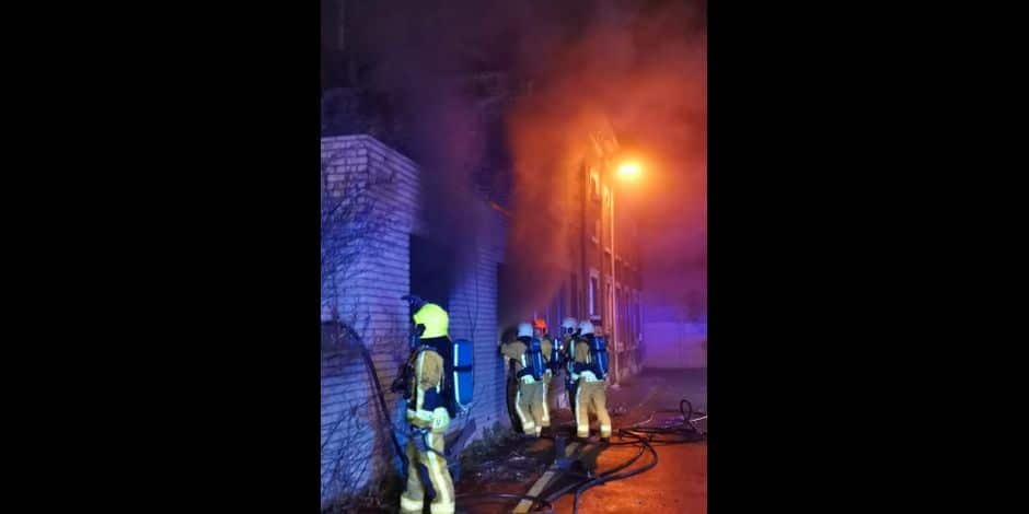 Incendie impasse Valkenberg à Bressoux