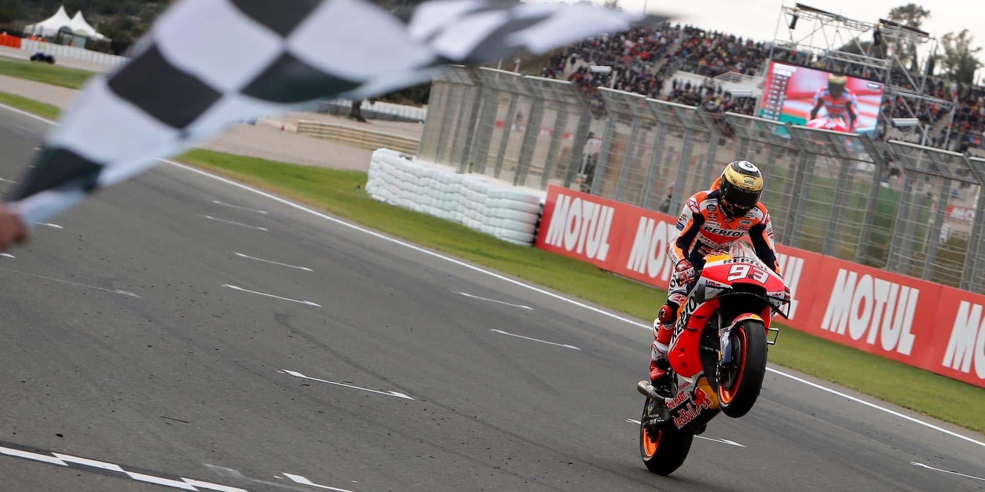 MotoGP: nouvelle victoire de Marquez à Valence devant Quartararo