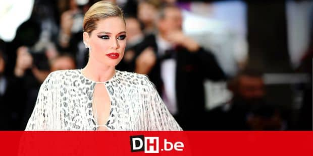 """Dutch model Doutzen Kroes arrives for the screening of the film """"Once Upon a Time... in Hollywood"""" at the 72nd edition of the Cannes Film Festival in Cannes, southern France, on May 21, 2019. (Photo by LOIC VENANCE / AFP)"""