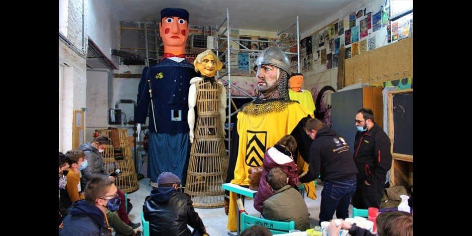 Tournai : l'école des géants pour perpétuer le folklore