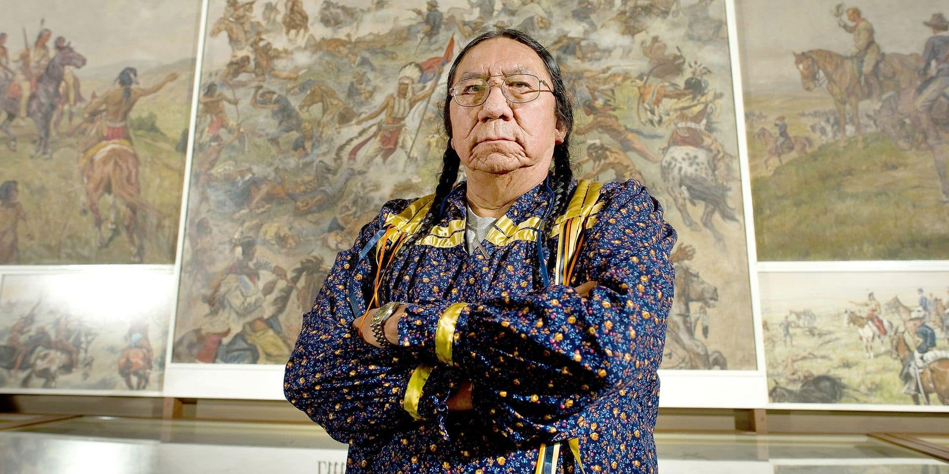 Sitting Bull great-grandson Ernie LaPointe visits Karl May Museum