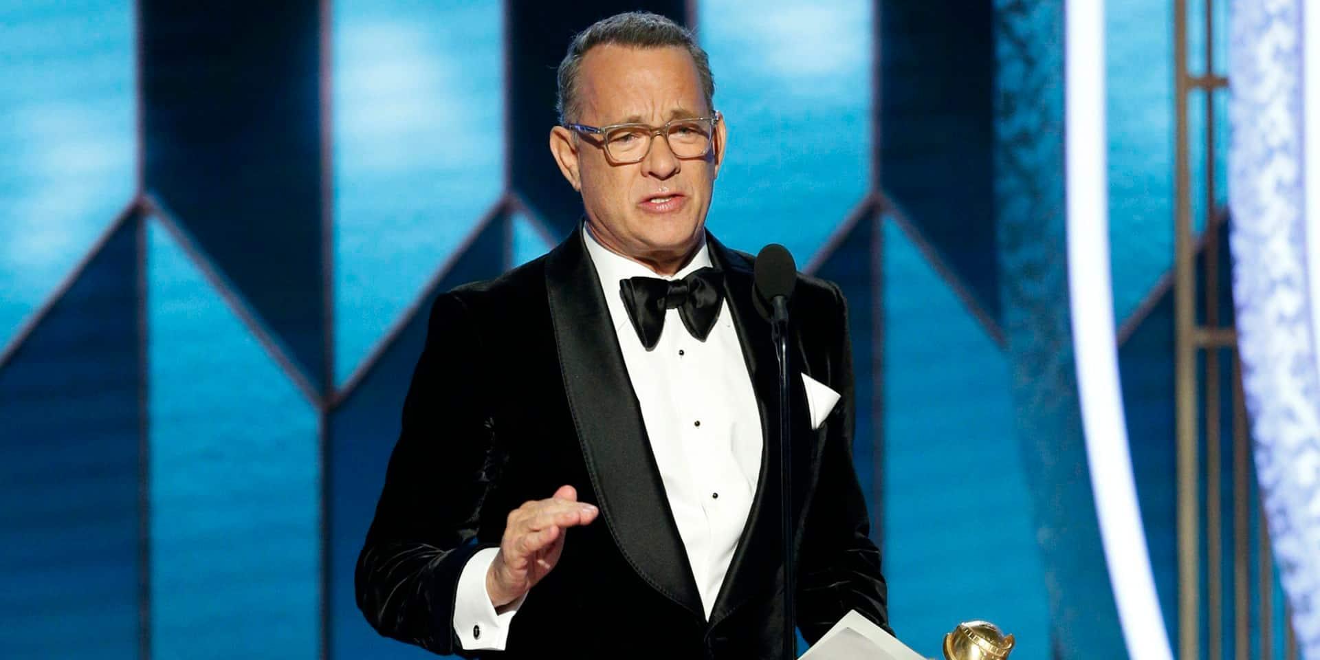 Tom Hanks ému aux larmes à la cérémonie des Golden Globes