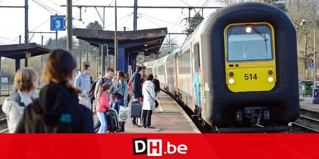Train SNCB navetteur trafic chemin fer rail quai heure horaire grève travail transport électricité énergie Desiro contrôleur accompagnateur