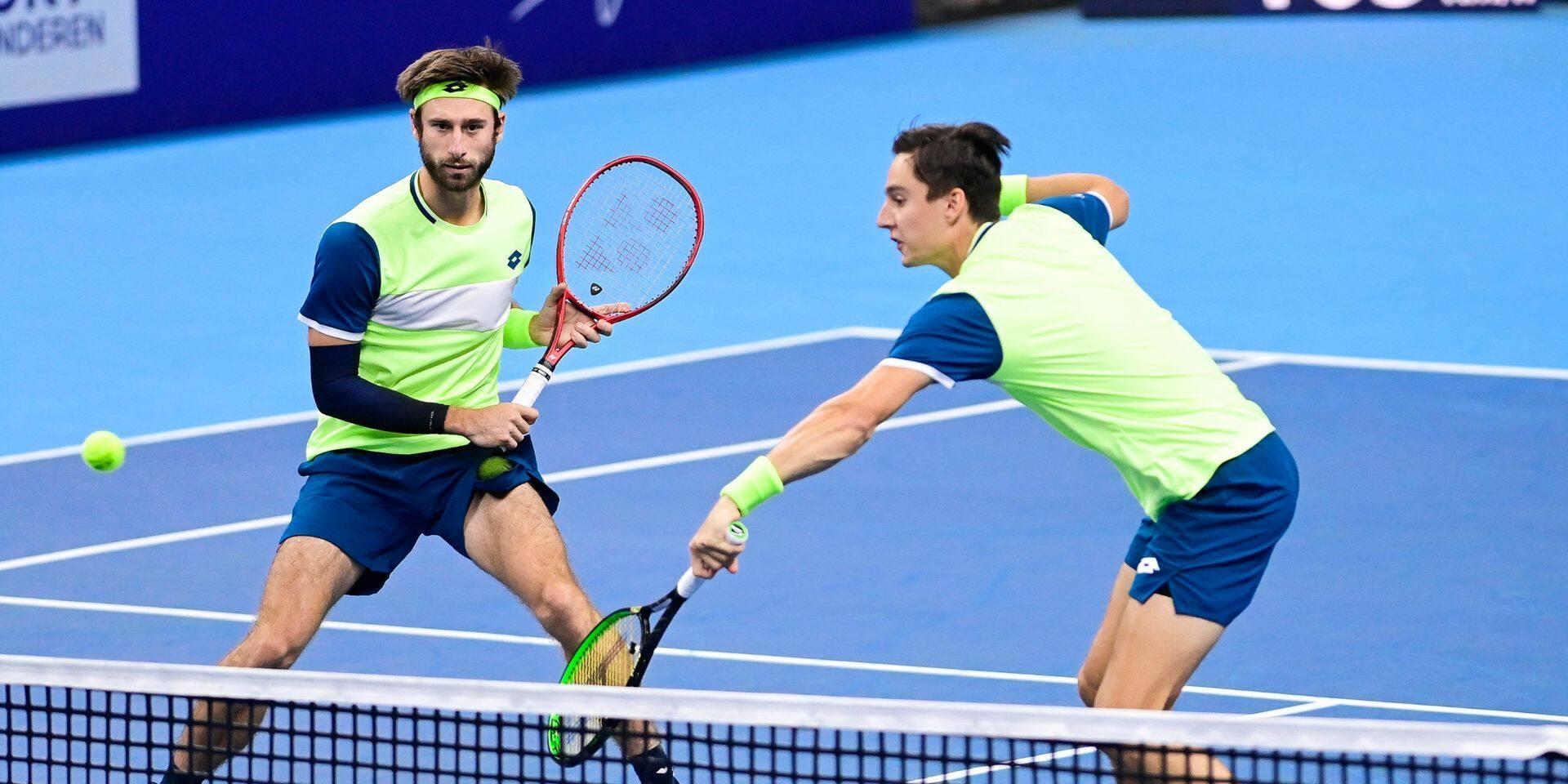 European Open: Gillé et Vliegen éliminés en demi-finales du double par Bopanna et Middelkoop