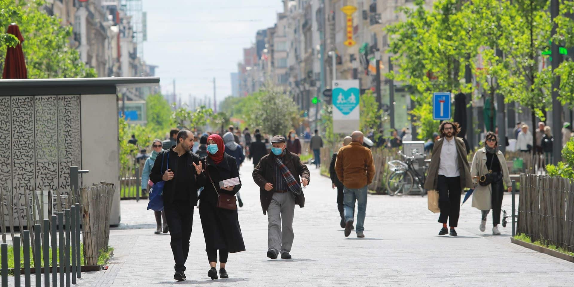 Bruxelles-Ville, Etterbeek et Evere délimitent le port du masque