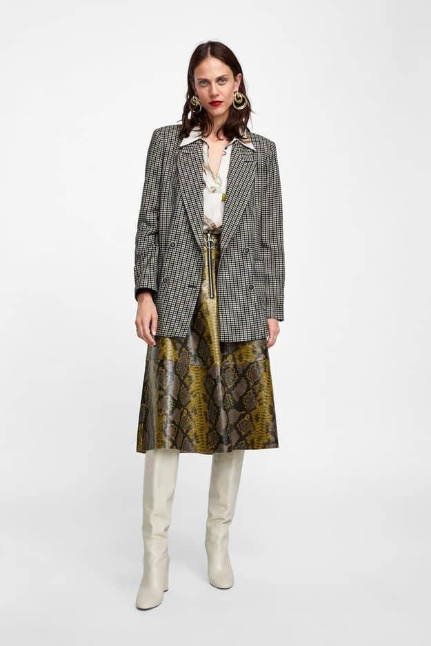 Veste à carreaux                                                                                               Zara, 69,95 euros