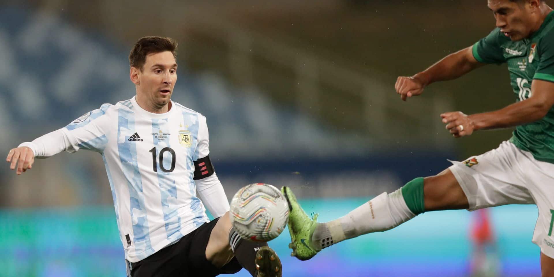 Lionel Messi fête son record de sélections avec un doublé contre la Bolivie