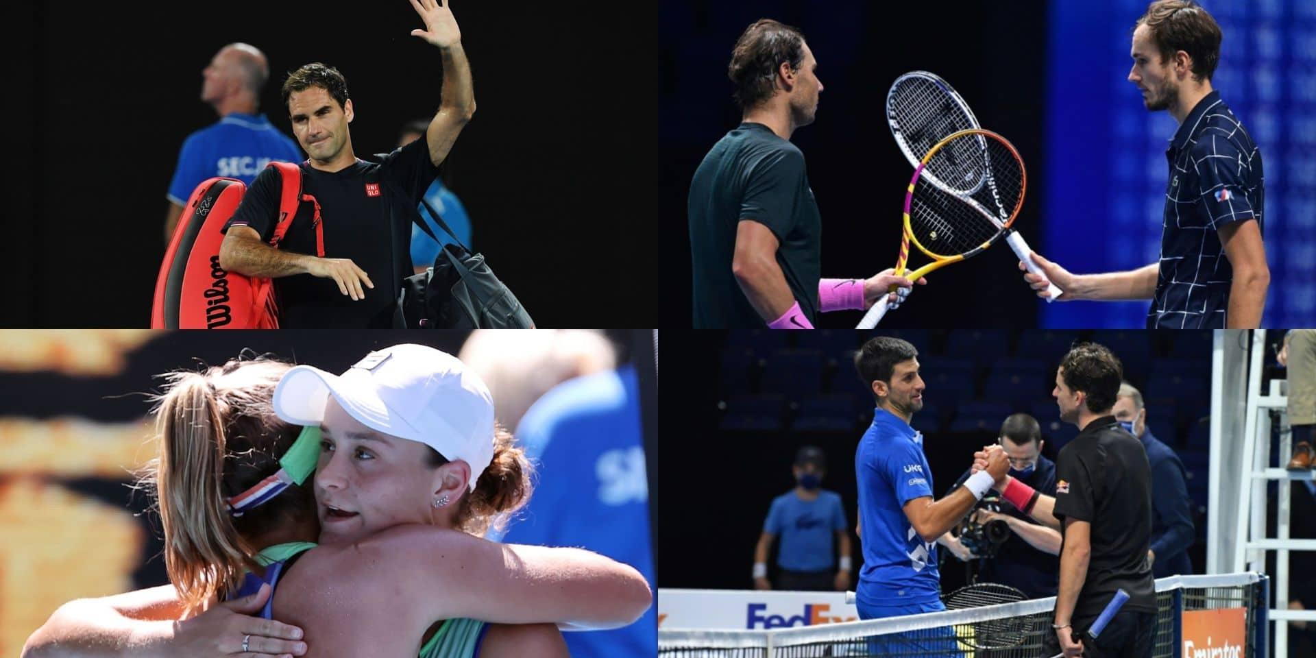 Medvedev, Federer, Nadal, Djokovic et plateau féminin: le monde du tennis a survécu à une année bien spéciale