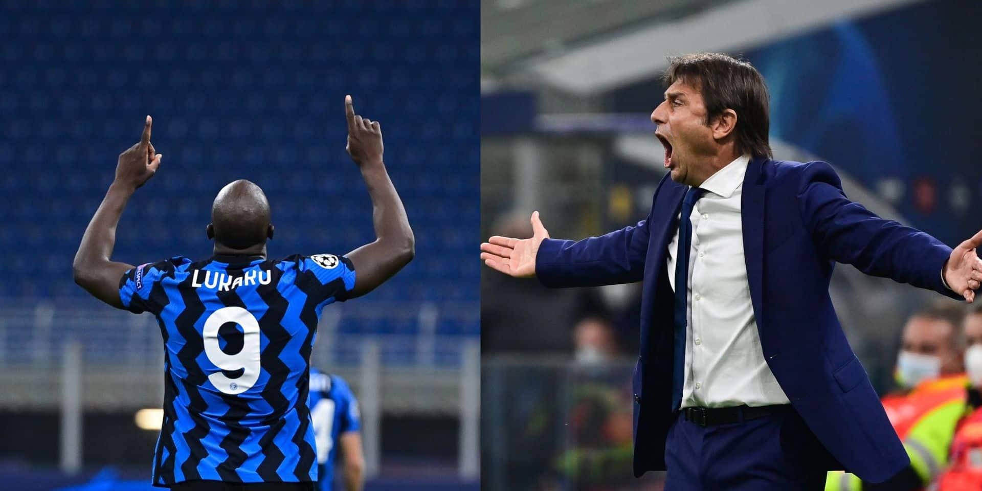 """Antonio Conte déclare sa flamme à Romelu Lukaku: """"Il peut devenir le meilleur attaquant au monde"""""""