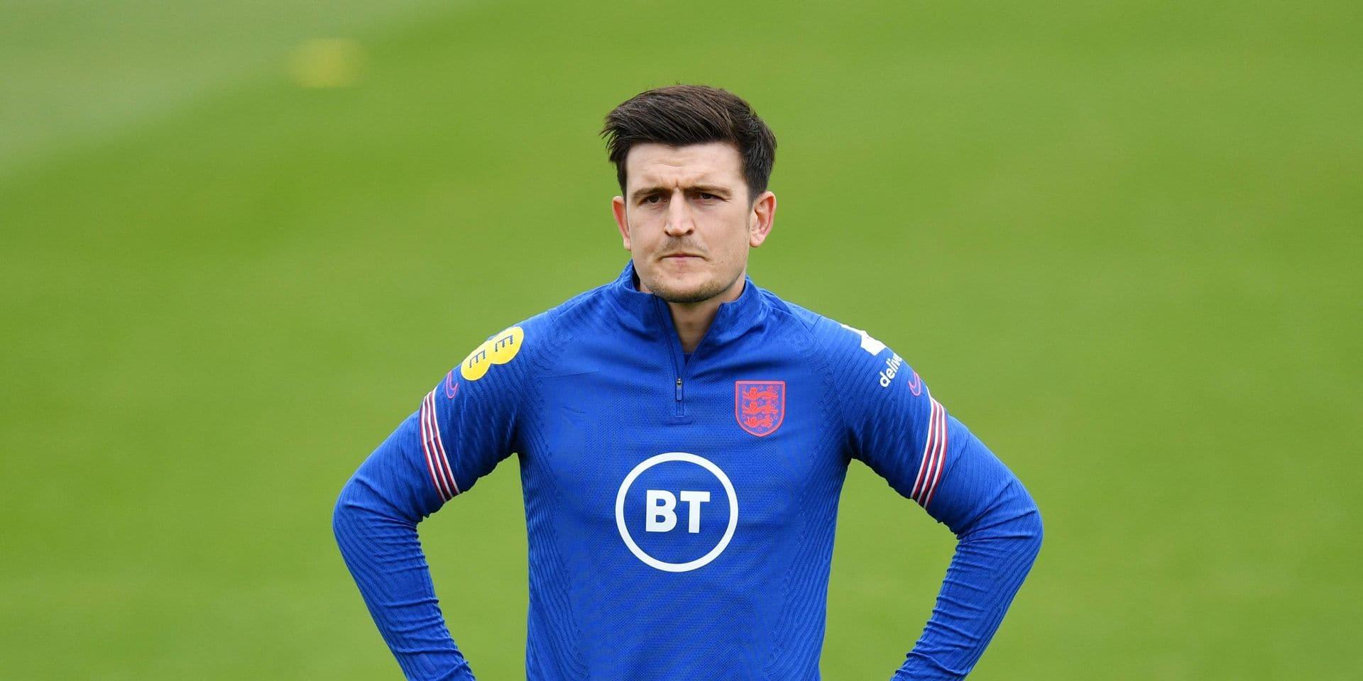 Harry Maguire s'entraîne avec la sélection anglaise