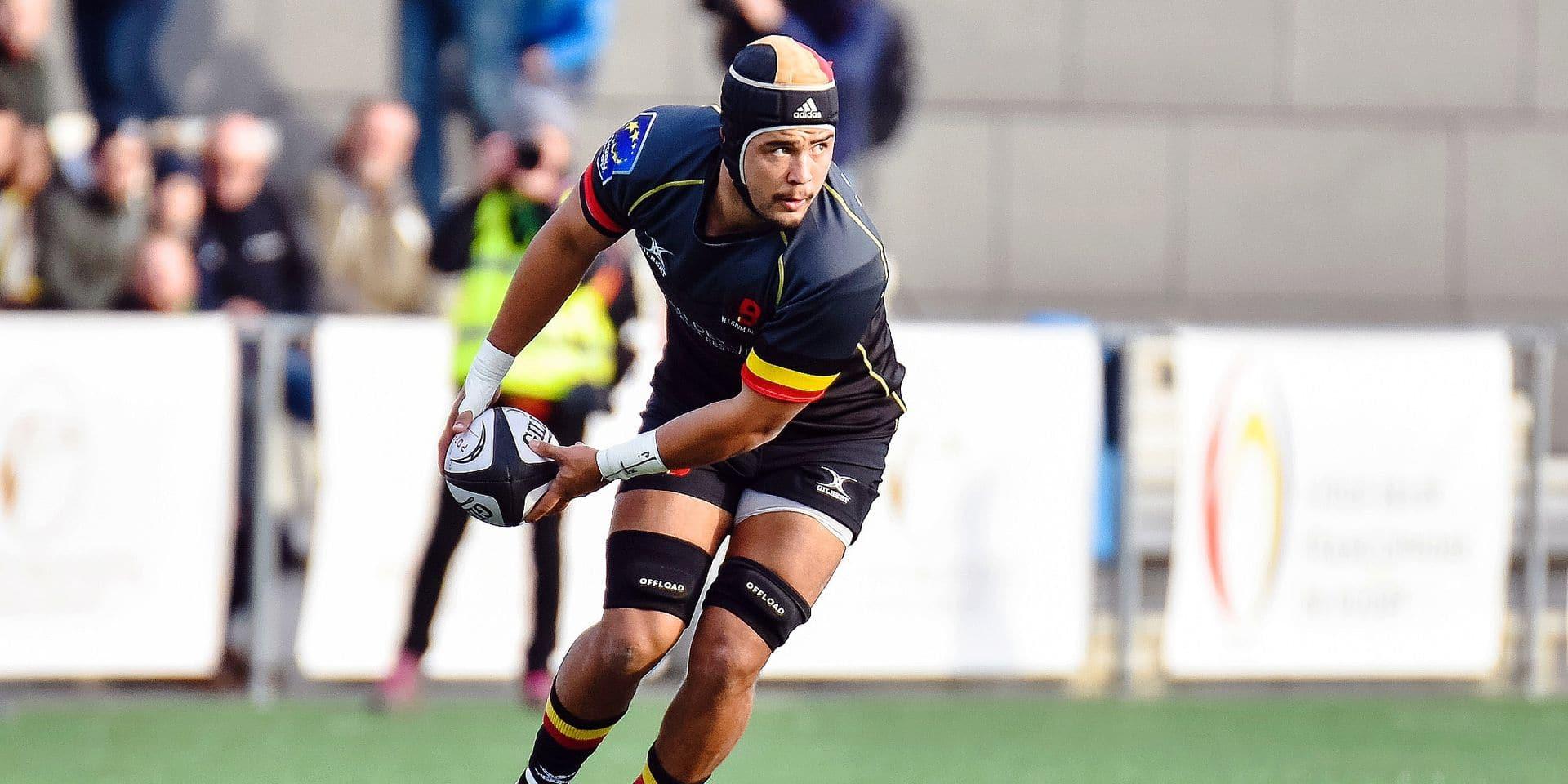 Rugby: William Van Bost est fier de représenter la Belgique