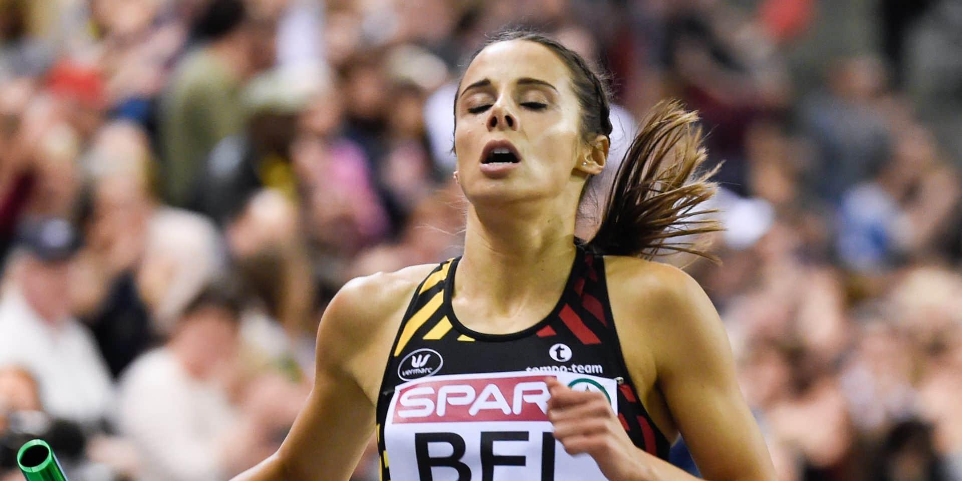 Les Belgian Cheetahs 4e de leur série du 4x400 m dames en 3:30.69