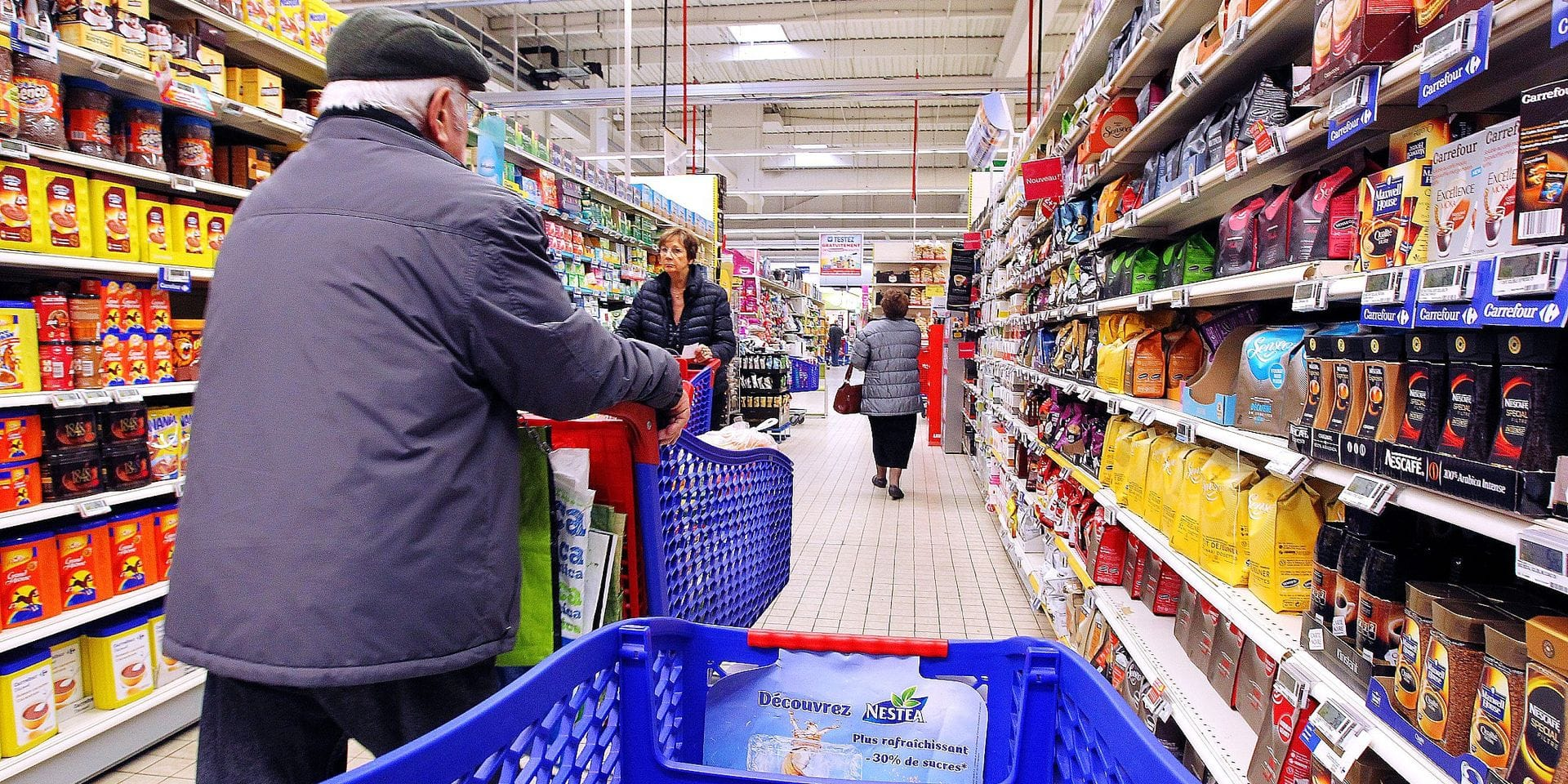 Illustration carrefour consommation