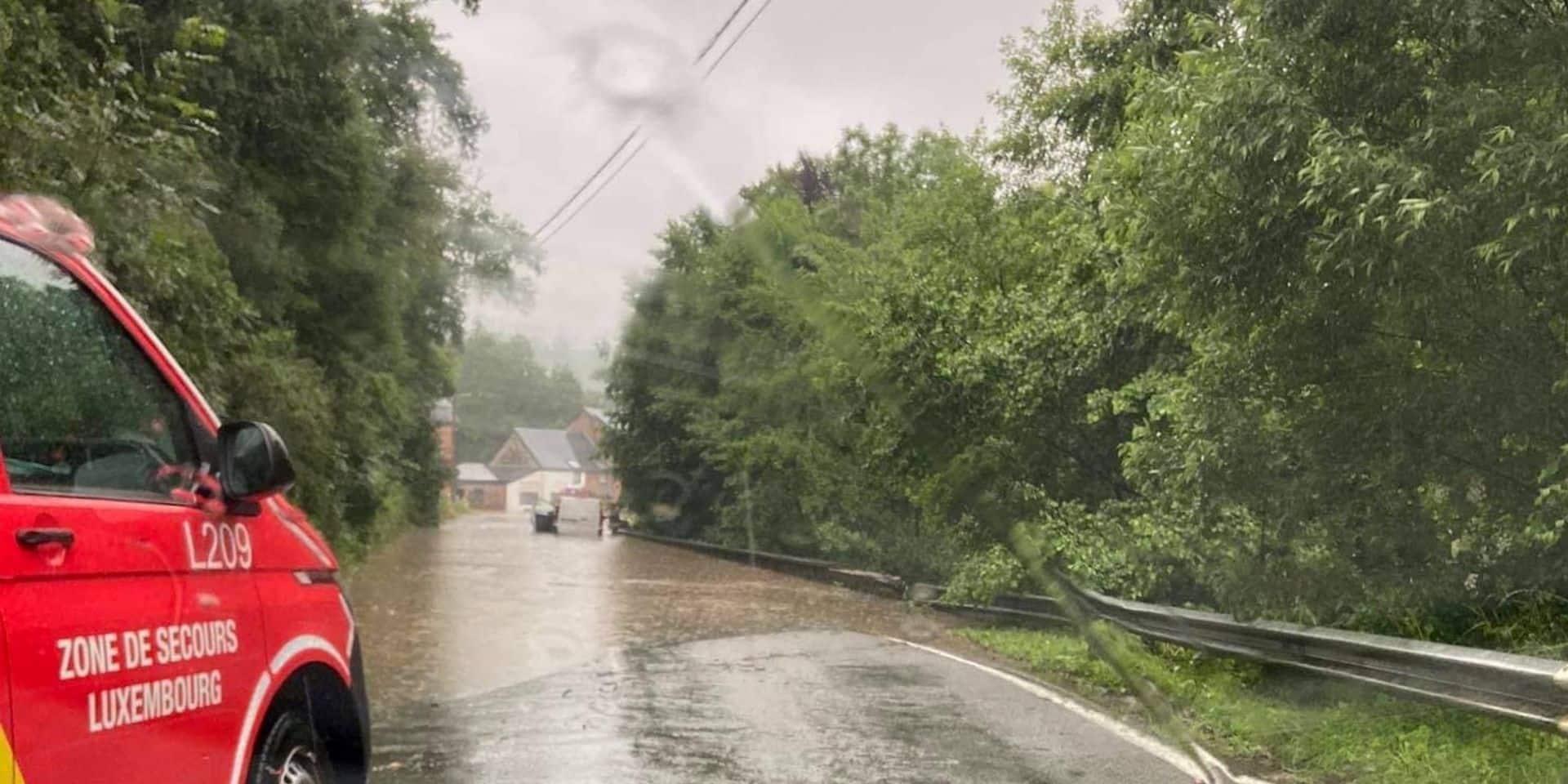 """Province de Luxembourg : """"Des inondations comme en juin 2016 """""""