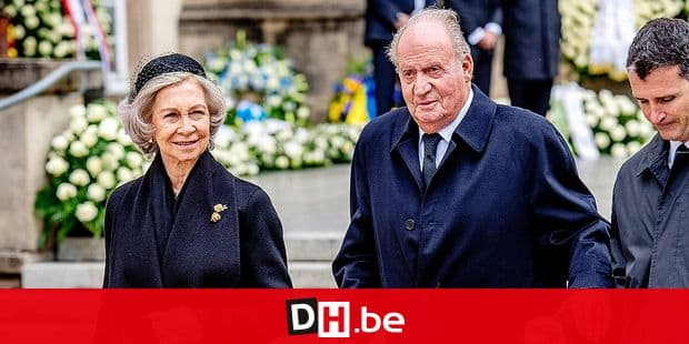 King Juan Carlos and Queen Sofia of Spain at Funeral of Grand Duke Jean at the Cathedral in Luxembourg, 4 May 2019. Photo: Patrick van Katwijk | Reporters / DPA