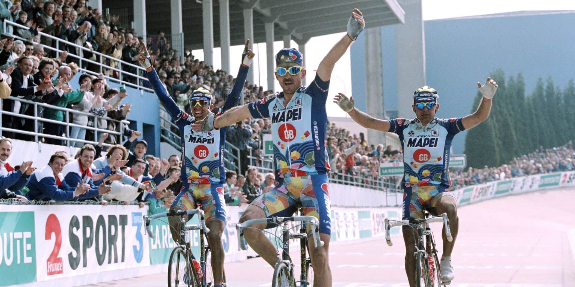 Quand le tiercé des Mapei à Paris-Roubaix a provoqué le désordre