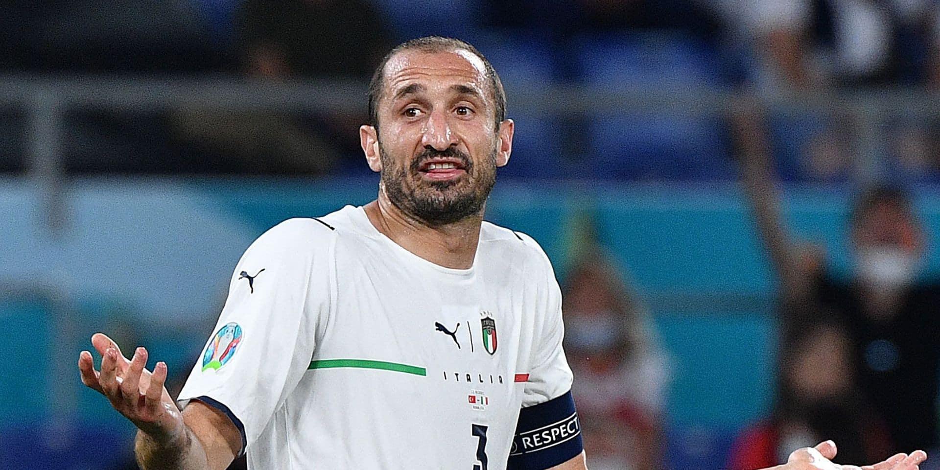 Giorgio Chiellini proche d'un retour dans l'équipe italienne face aux Diables