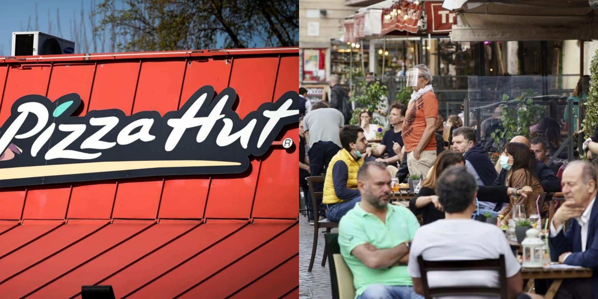 20 tables profitent que l'alarme incendie retentisse au Pizza Hut pour partir sans payer