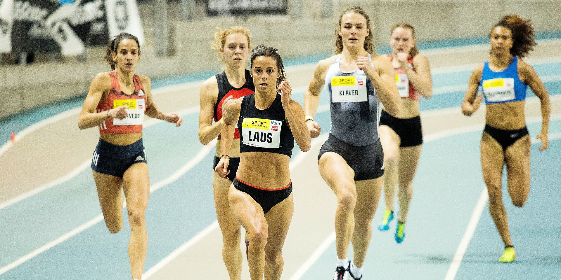 Belgian Camille Laus pictured in action during the Belgian Championships indoor Athletics, Saturday 09 February 2019 in Gent. BELGA PHOTO JASPER JACOBS