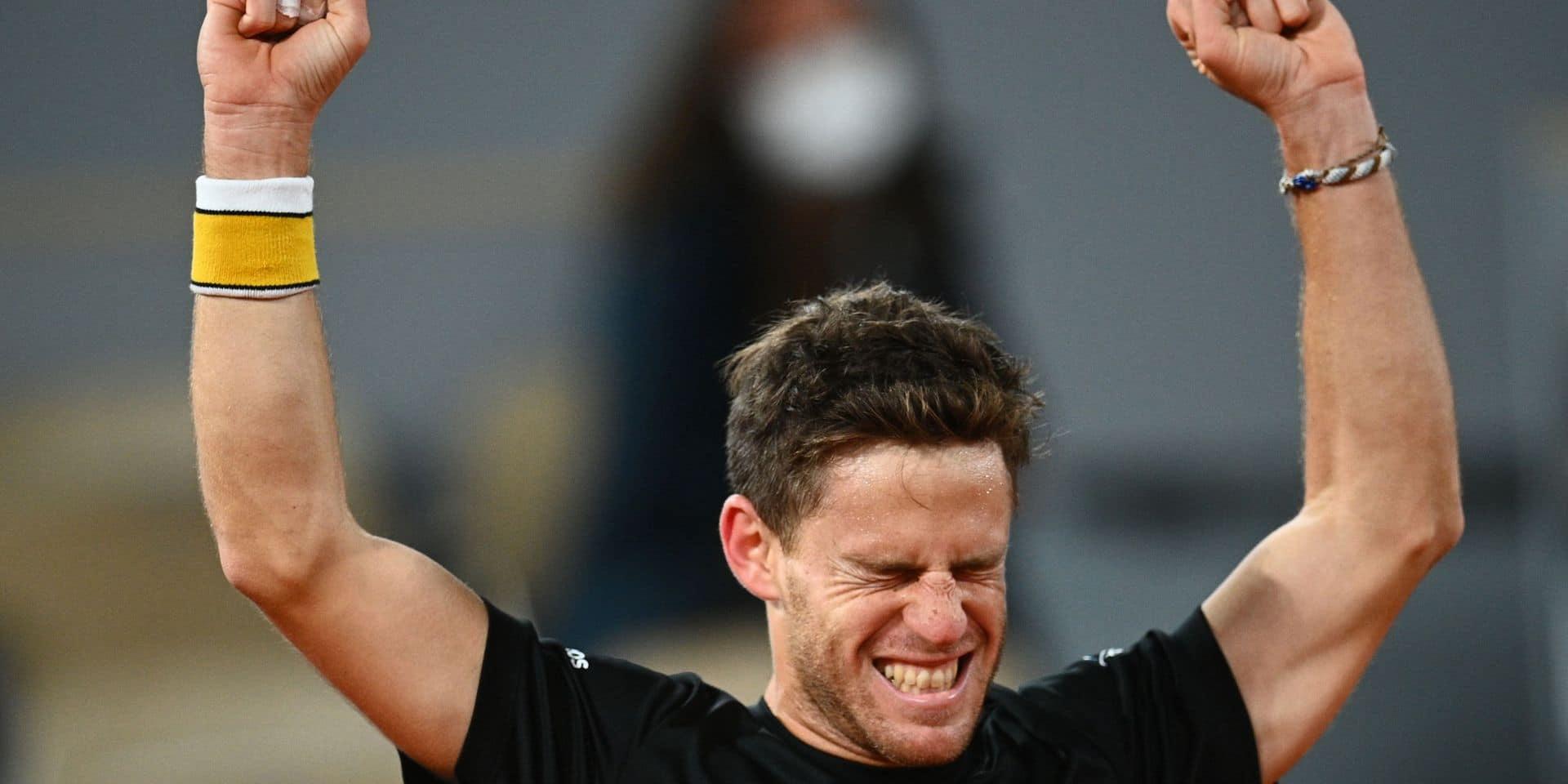 Roland-Garros: Diego Schwartzman se hisse en demi-finale après un match marathon face à Dominic Thiem