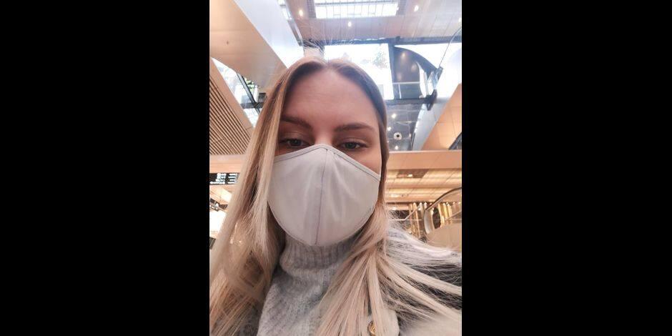 """Fiona, citoyenne Mouscronnoise: """"Je continuerai à porter le masque malgré les assouplissements"""""""