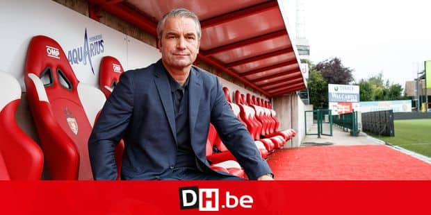 Mouscron's new head coach Bernd Storck poses for the photographer at a press conference of Belgian first division soccer team Royal Excel Mouscron to present their new coach, Monday 03 September 2018 in Mouscron. BELGA PHOTO KURT DESPLENTER