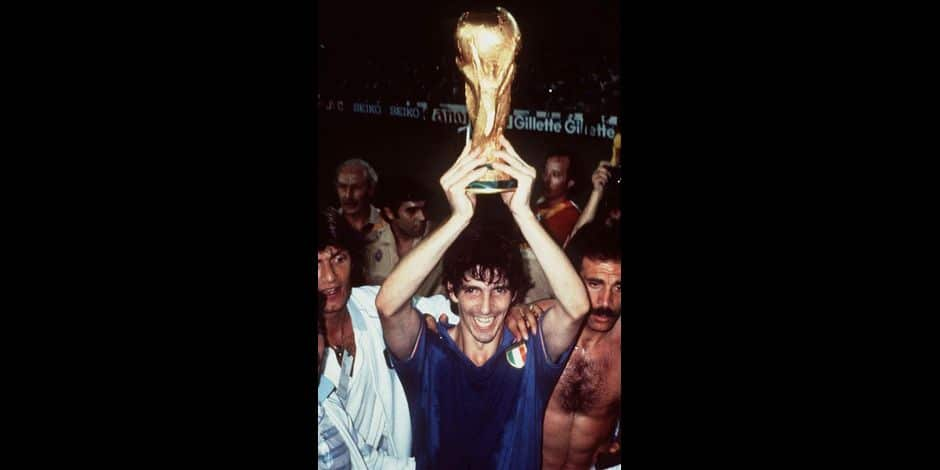 1982 FIFA World Cup - Paolo Rossi with World Cup Trophy