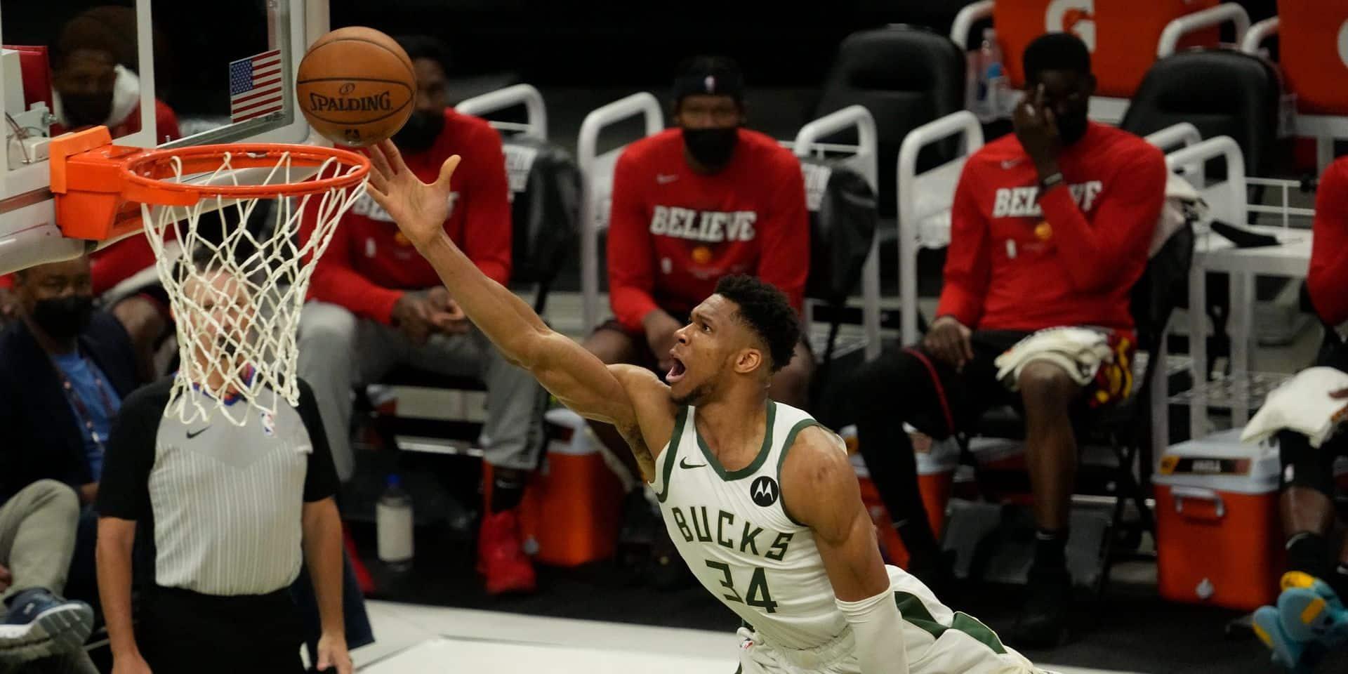 Play-offs NBA: sursaut de Milwaukee qui pulvérise Atlanta