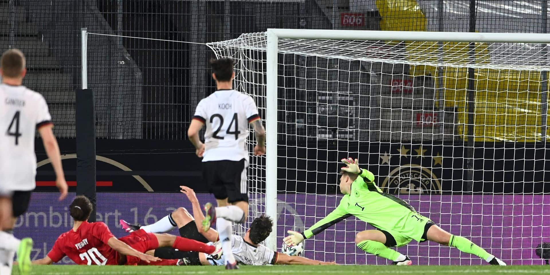 Préparation de l'Euro: le Danemark, adversaire de la Belgique à l'Euro, partage contre l'Allemagne, les Bleus écrasent le Pays de Galles