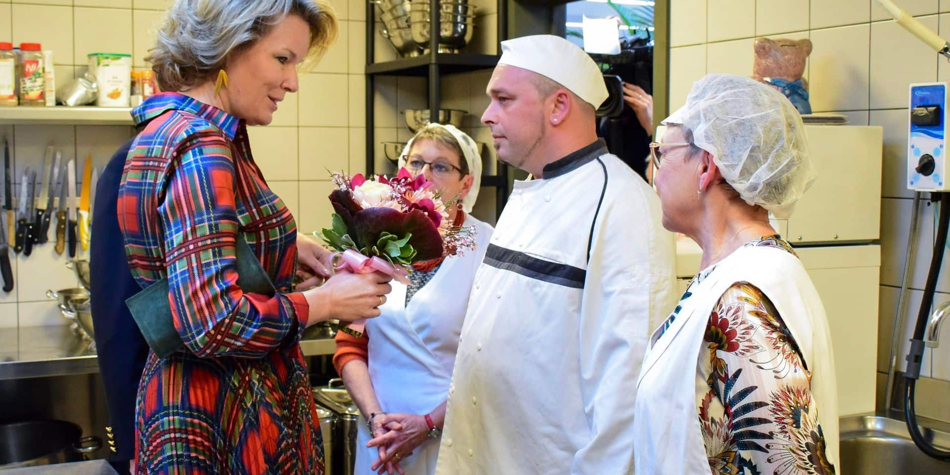 Le couple royal visite   <i> Les Sauverdias </i>
