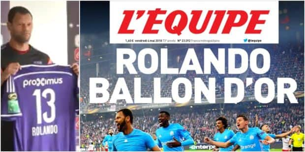 """""""Rolando Ballon d'or"""": Quand l'ancien Anderlechtois fait la Une de L'Equipe - La DH"""