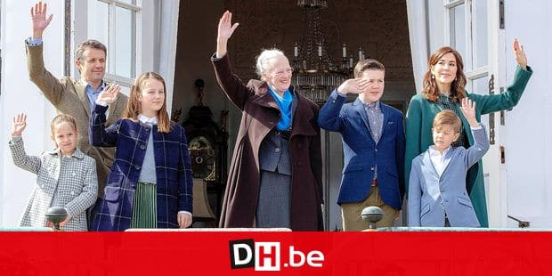 16-04-2019 Denmark Danish royal family attend the Queen's 79th birthday in Aarhus. Queen Margrethe Princess Mary and Prince Frederik with Prince Christian and Princess Isabella and Princess Josephine and Prince Vincent © PPE/Nieboer Reporters / PPE