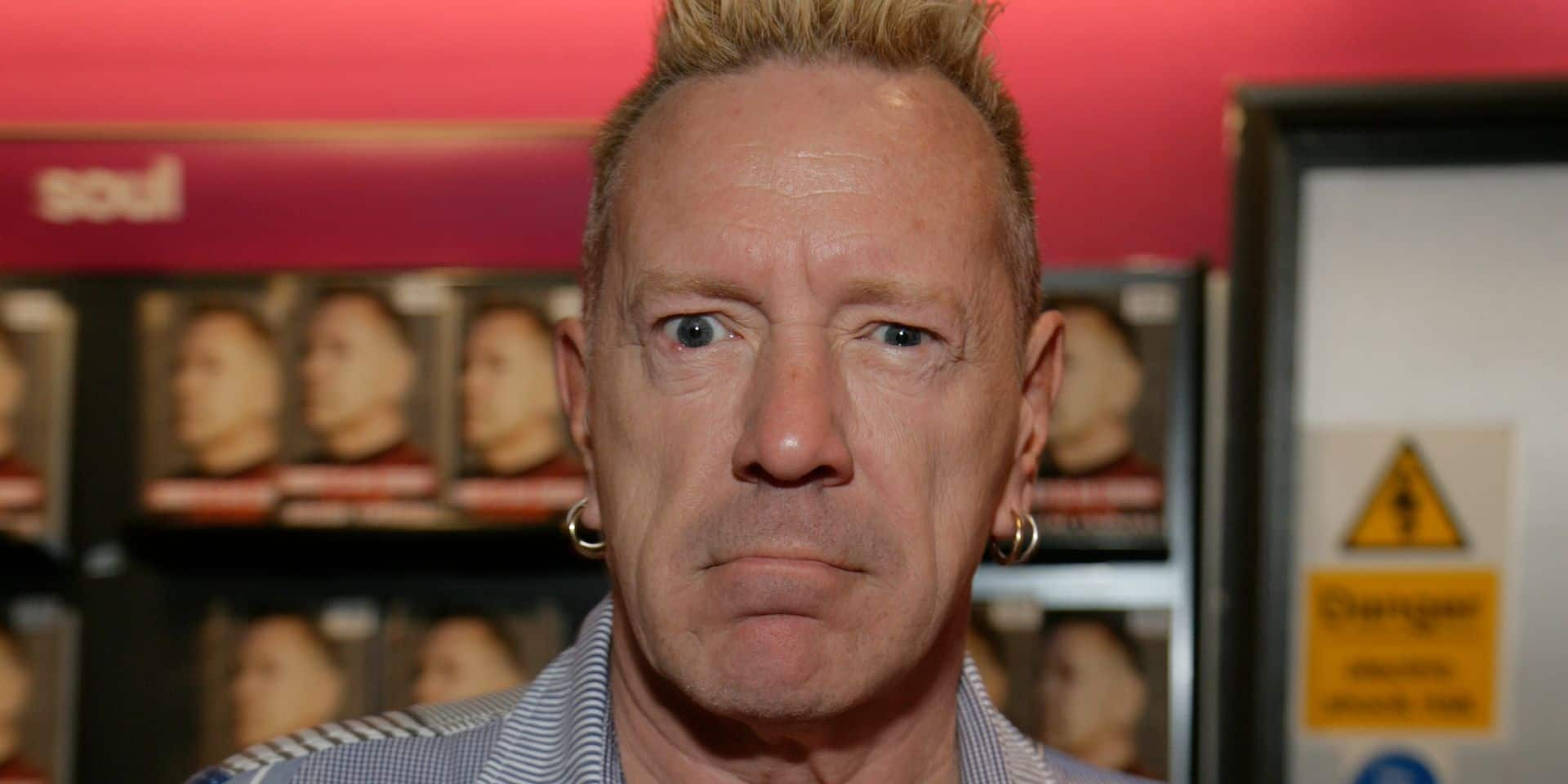 John Lydon at HMV Reading to promote his book Anger Is My Energy Reading Berkshire England