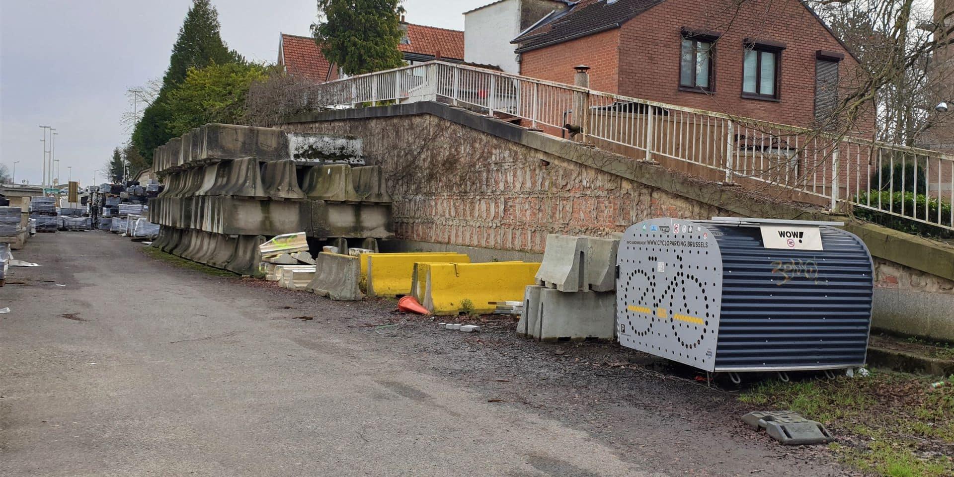 Ixelles : le box à vélos qui avait mystérieusement disparu a été retrouvé